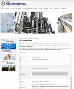 Certificado Energético en Las Palmas en la web del COIICO