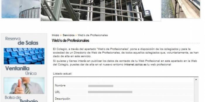La web de Certificado Energetico En Las Palmas incluida en el directorio de Webs del COIICO